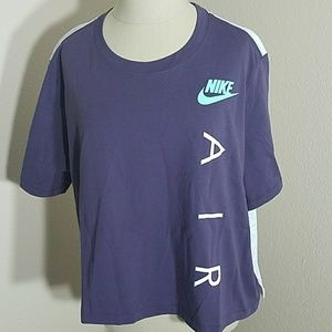 Nike Air T-Shirt Purple and Gray XL